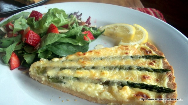 Spring Asparagus Lemon Tart | Gluten Free, Low Carb | Wheatless Buns