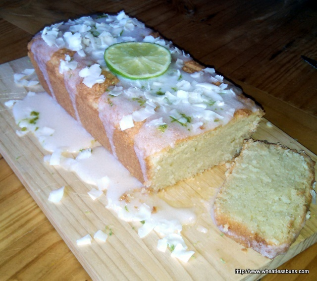 Coconut Lime Pound Cake | Gluten Free, Low Carb | Wheatless Buns