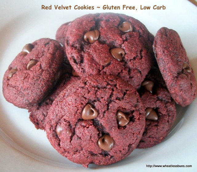 Red Velvet Cookies ~ Gluten Free, Low Carb