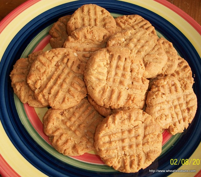 Peanut Butter Cookies ~ Gluten Free, Low Carb ~ Wheatless Buns