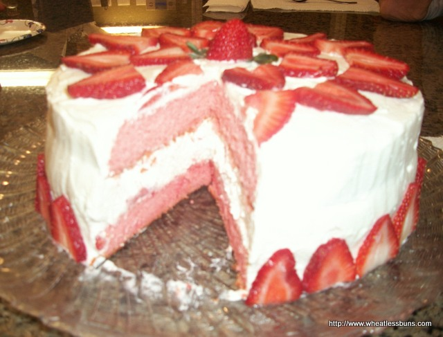 Strawberry Cake | Gluten Free, Low Carb | Wheatless Buns - Wheatless ...