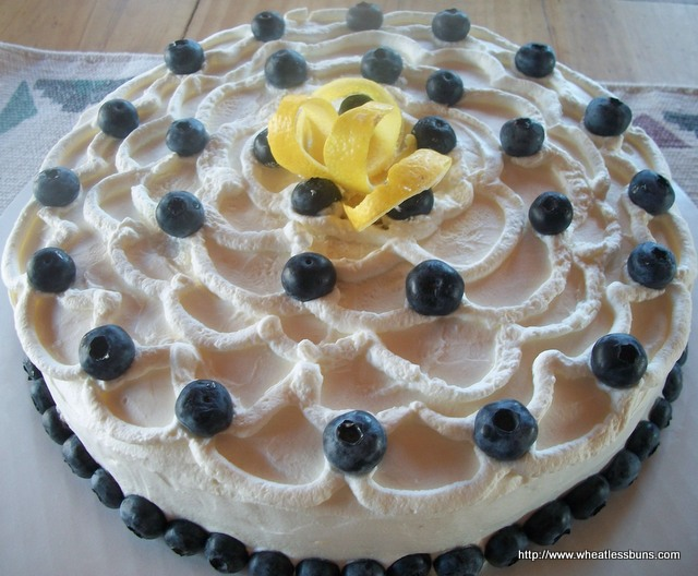 Lemon Blueberry Cake | Gluten Free, Low Carb | Wheatless Buns