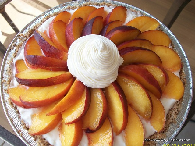Peaches and Cream Pie | Gluten Free, Grain Free, Sugar Free | Wheatless Buns