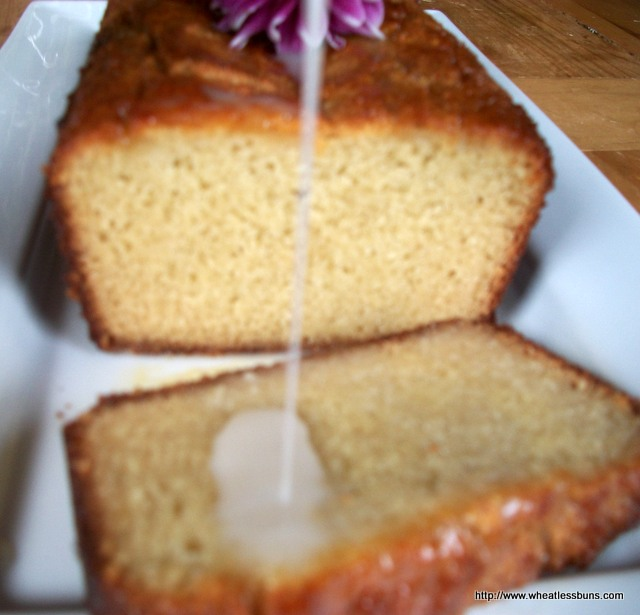 Honey Pound Cake with Coconut Honey Glaze | Grain Free, Paleo, Dairy Free | Wheatless Buns