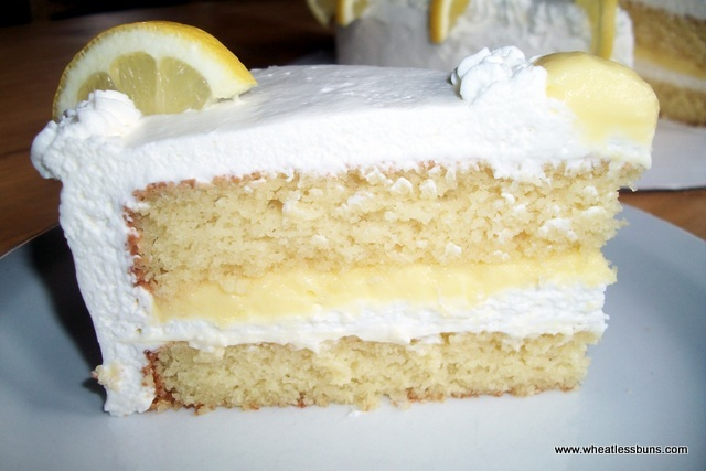 Lemon Curd and Cream Cake | Gluten Free, Low Carb | Wheatless Buns