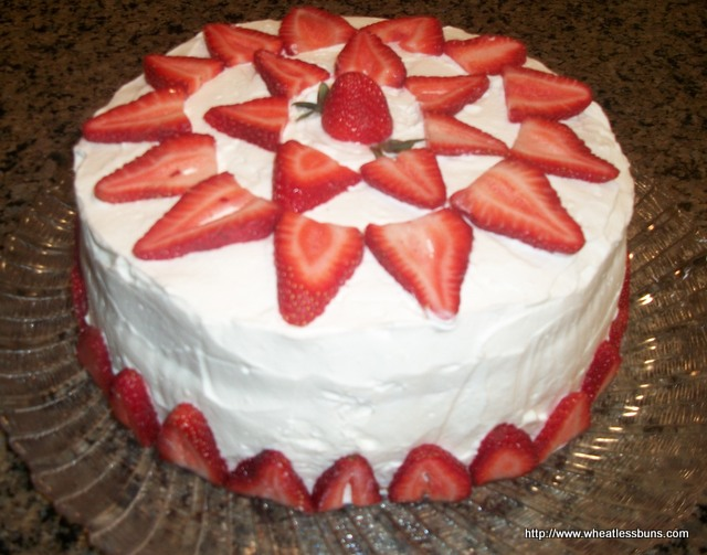Strawberry Cake ~ Gluten Free, Low Carb ~ Wheatless Buns